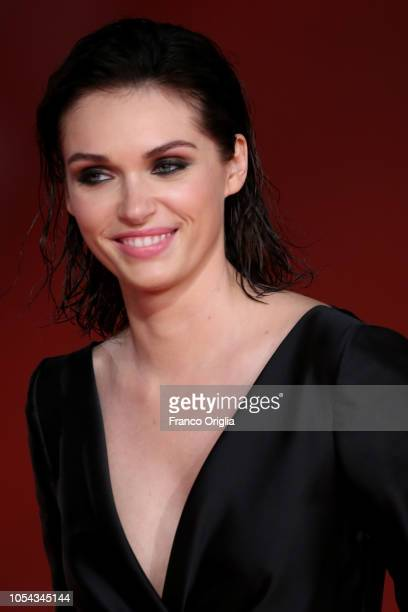 Caterina Shulha walks the red carpet ahead of the 'Notti Magiche' screening during the 13th Rome Film Fest at Auditorium Parco Della Musica on...