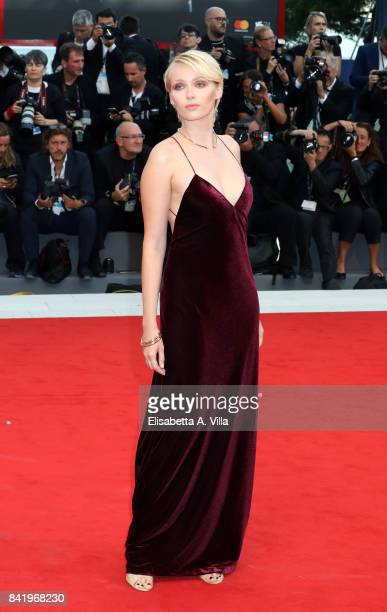 Caterina Shulha walks the red carpet ahead of the 'Suburbicon' screening during the 74th Venice Film Festival at Sala Grande on September 2 2017 in...