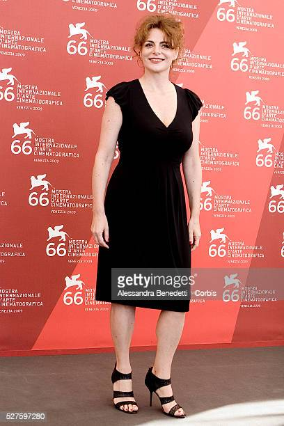 "Caterina Varzi attends the photocall of the short film ""Hotel Courbet"" during the 66th Venice Film Festival."