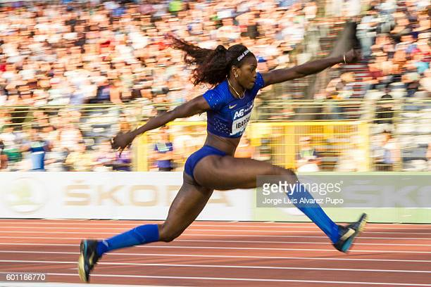 Caterine Ibarguen of Colombia competes during the Women Triple Jump of the AG Insurance Memorial Van Damme IAAF Diamond League meeting at King...