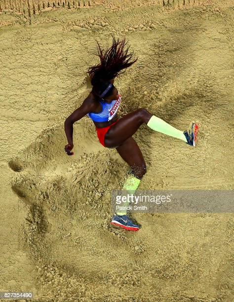 Caterine Ibarguen of Colombia competes in the Women's Triple Jump final during day four of the 16th IAAF World Athletics Championships London 2017 at...