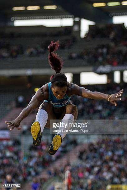 Caterine Ibarguen of Colombia competes in the women's Triple Jump during the AG Insurance Memorial Van Damme as part of the IAAF Diamond League 2015...