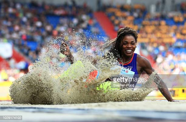 Caterine Ibarguen of Team Americas competes in the Womens Triple Jump during day one of the IAAF Continental Cup at Mestsky Stadium on September 8...