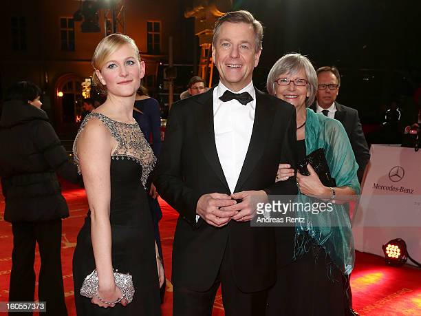 Caterine Kleber Claus Kleber and Renate Kleber attend 'Goldene Kamera 2013' at Axel Springer Haus on February 2 2013 in Berlin Germany