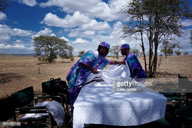 Catering at the Serengeti Conservation Area Tanzania Eastern Africa.