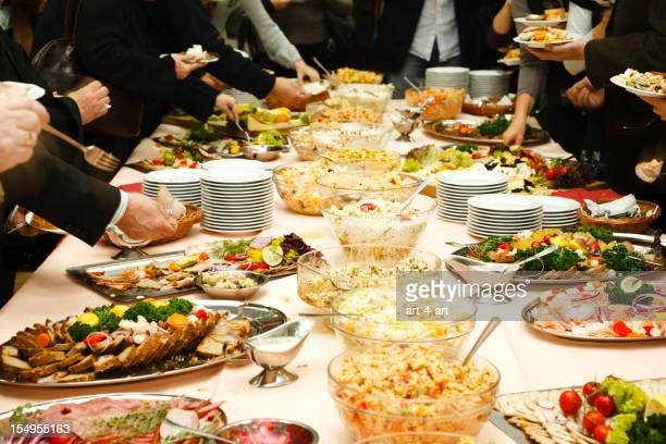 catering table full of tasty food - full stock pictures, royalty-free photos & images