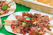 catering with typical ingredients italian cuisine