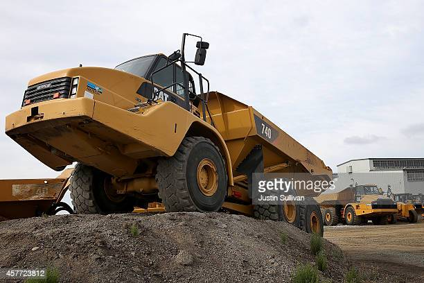 Caterpillar construction vehicle is displayed at Peterson Tractor on October 23 2014 in San Leandro California Caterpillar Inc reported strong third...