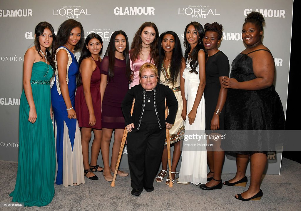 Caterpillar Foundation president Michele Sullivan (C) and guests attend Glamour Women Of The Year 2016 at NeueHouse Hollywood on November 14, 2016 in Los Angeles, California.