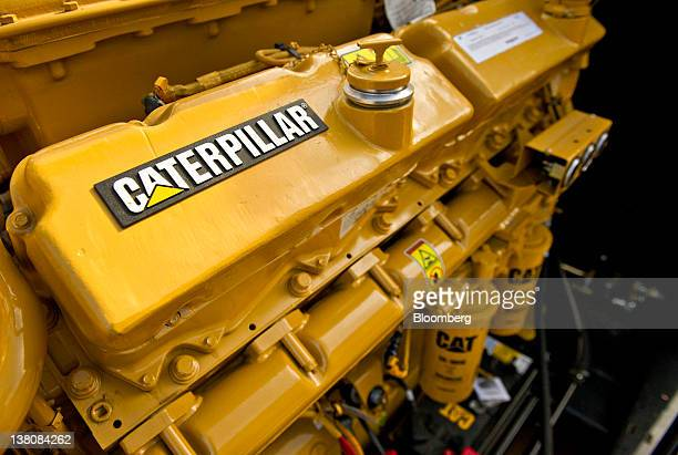 Caterpillar Inc diesel power generators sit outside at the Enercon Engineering Inc facility in East Peoria Illinois US on Wednesday Feb 1 2012 The US...