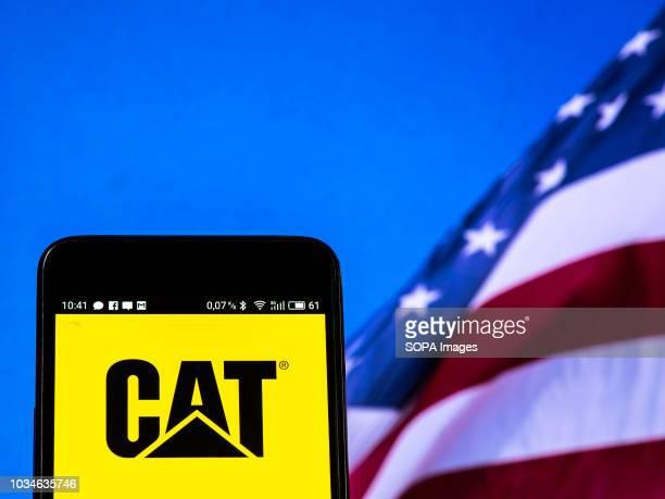 Caterpillar Inc logo seen displayed on a smart phone