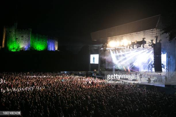 Catfish and the Bottlemen perform live on stage at Cardiff Castle on July 29, 2018 in Cardiff, Wales.