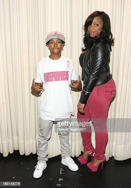 Catfish participants Mattie Dee Pimpin Brown and Keyonnah Abrams visits 106 Park at 106 Park on October 17 2013 in New York City