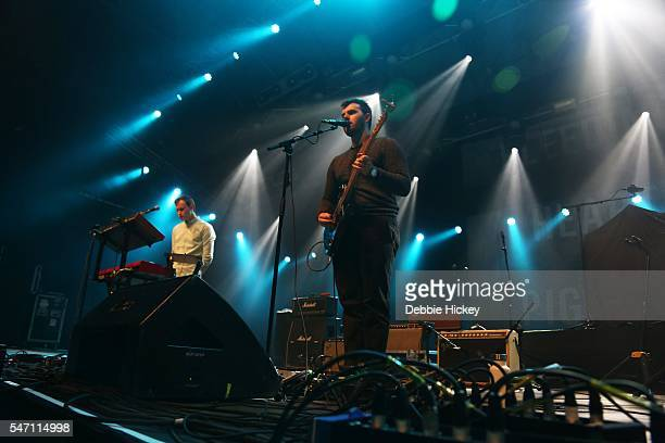 Cathal Histon Micheal Keatingand Brendan McInerney of Bleeding Pigeons perform at The Marquee on July 13 2016 in Cork Ireland