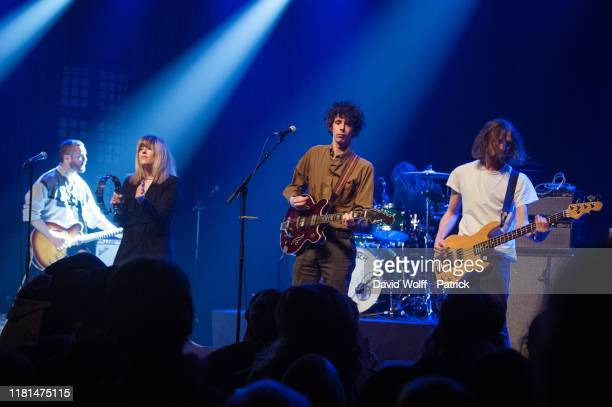 Cathal MacGabhann, and Elaine Howley from The Altered Hours open for Fontaines DC at Le Bataclan on November 10, 2019 in Paris, France.