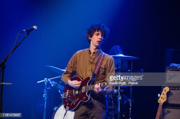 Cathal MacGabhann, from The Altered Hours opens for Fontaines DC at Le Bataclan on November 10, 2019 in Paris, France.