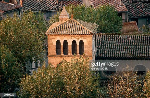 Cathar country Carcassonne France The SaintGimer church in Carcassonne was built at the foot of the City at the site of the count's castle's great...