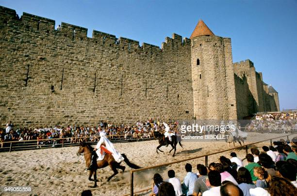 each year in August medieval festivities in Carcassonne recall the city's great past Pays cathare Carcassonne chaque année en août les fêtes...