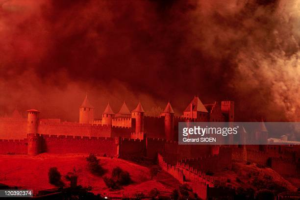 Cathar country the city of Carcassonne in France The City of Carcassonne miraculously spared from destruction in the XIXth century Though it was...