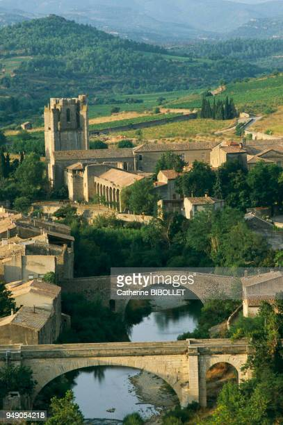 the village of Lagrasse can be noticed from far away thanks to its monumental belltower proof of the importance it held in the past Pays cathare Aude...