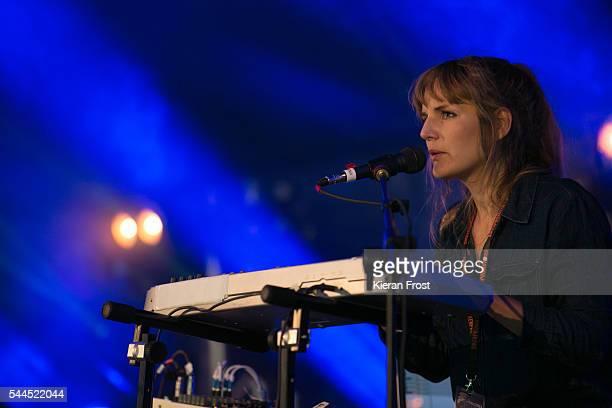 Catharina Jaunviksna of Badlands performs at CastlePalooza at Charville Castle on July 2, 2016 in Tullamore, Ireland.