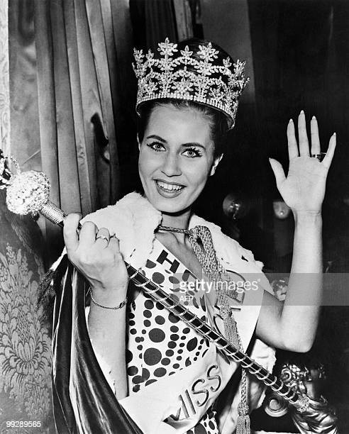 Catharina Lodders representing the Netherlands is elected Miss World on November 8 1962 in London