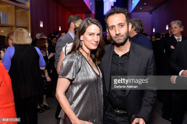 Catharine Soros and Alex Israel attend 2017 REDCAT Gala Honoring Janet Dreisen Rappaport and John Baldessari on March 4 2017 in Los Angeles California