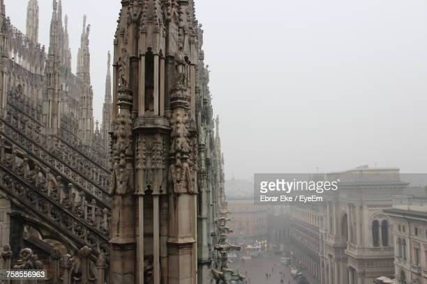 Cathedral Against Sky In Foggy Weather