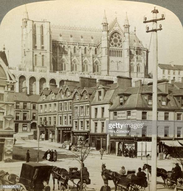 Cathedral and Main Street Queenstown Ireland c late 19th century Queenstown was the name given by the British to Cobh before Ireland gained its...