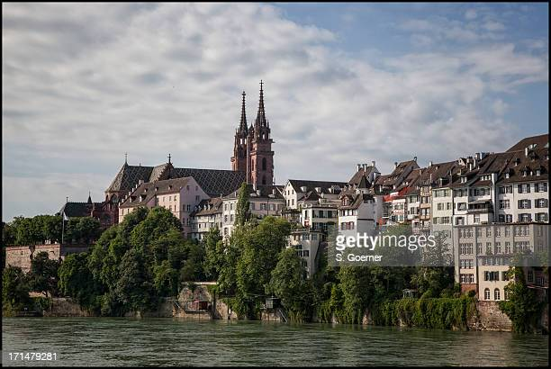 Cathedral Basel and river rhine