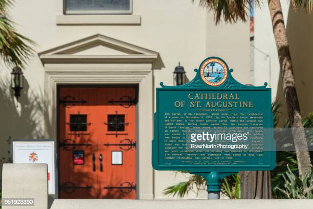 cathedral basilica of st. augustine, florida - basilica stock pictures, royalty-free photos & images