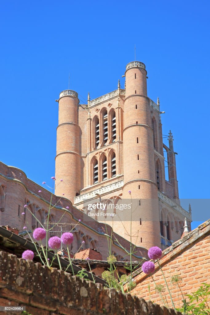 Cathedral bell-tower in Albi, Tarn, France. : Stock Photo