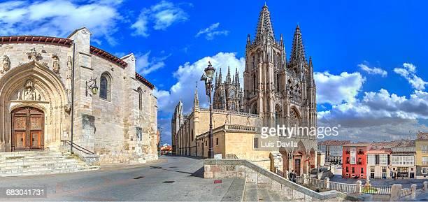 cathedral. burgos. spain - burgos stock-fotos und bilder
