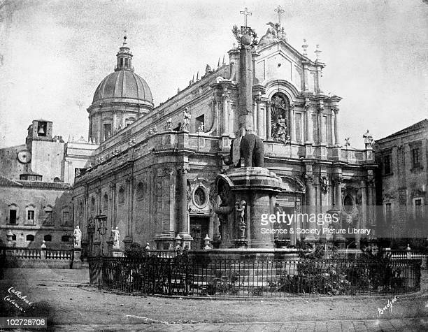 Cathedral Catania Sicily Italy 1846 Cathedral Catania Sicily Italy 1846 Calotype by Reverend George Wilson Bridges The oldest part of this cathedral...