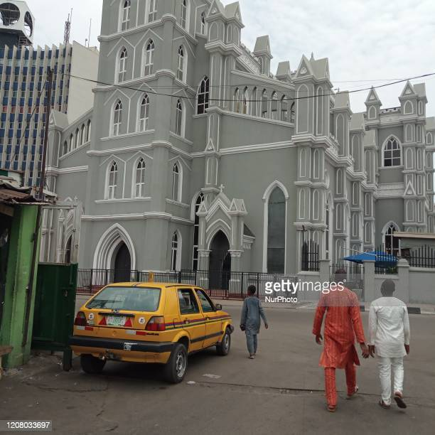 Cathedral Church of Christ, Marina, Lagos, Nigeria on , March 22, 2020 shut out members. In order to curtail the spread of coronavirus Lagos State...