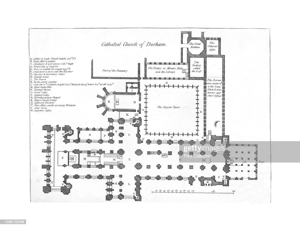 Cathedral Church Of Durham 18th Century Floor Plan And Index Of News Photo Getty Images