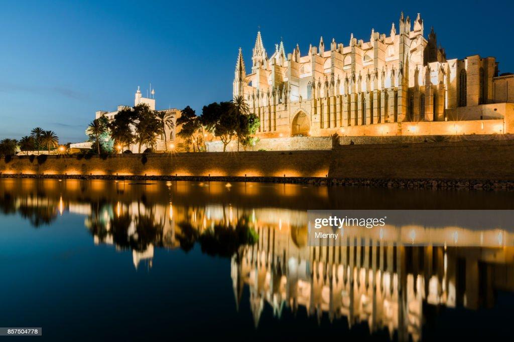 Cathedral de palma de mallorca at night la seu majorca - Muebles baratos palma de mallorca ...