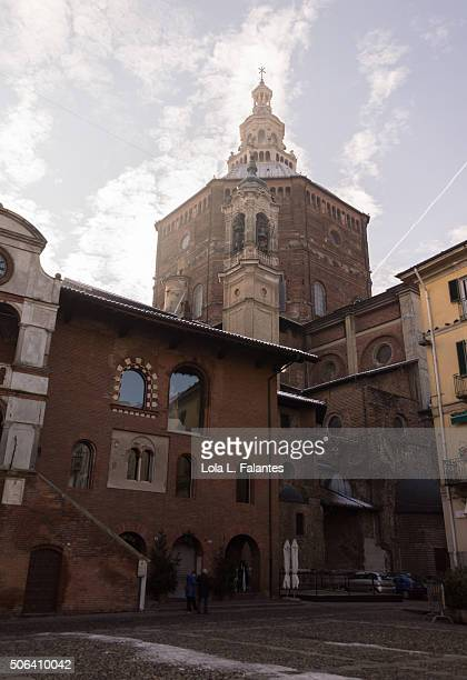Cathedral dome and houses, Pavia