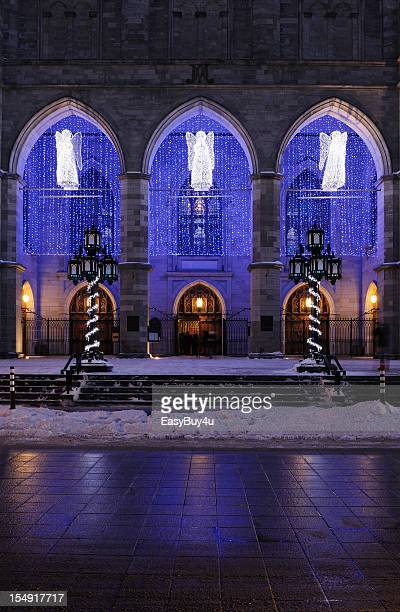 cathedral door - notre dame de montreal stock photos and pictures