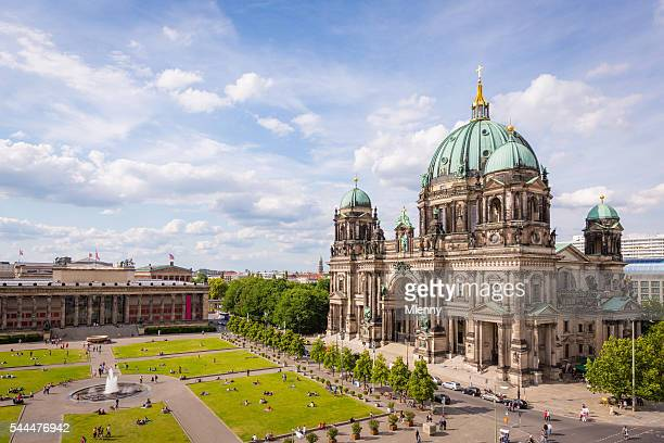 cathedral in berlin germany aerial view - berlin stock pictures, royalty-free photos & images