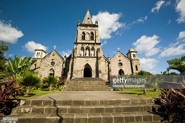 cathedral in dominica, caribbean - dominica stock pictures, royalty-free photos & images