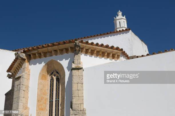 cathedral in faro, algarve - faro city portugal stock photos and pictures