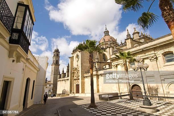 cathedral in jerez de la frontera - jerez de la frontera fotografías e imágenes de stock