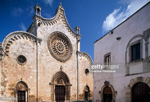 cathedral in ostuni - ostuni stock photos and pictures