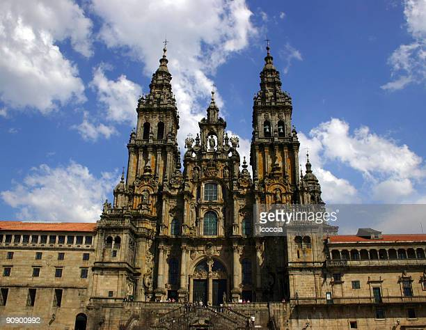 cathedral in santiago de compostela - santiago chile stock pictures, royalty-free photos & images