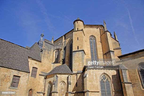 cathedral in sarlat-la-caneda, dordogne. - sarlat stock photos and pictures
