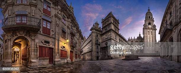 Cathedral in Square Prateria, Old Town of Santiago de Compostela