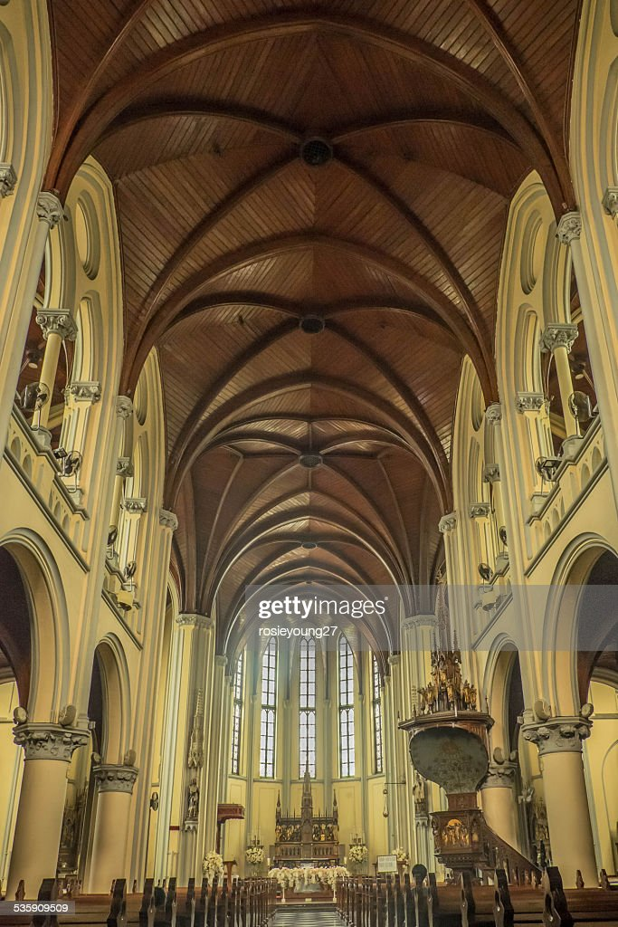 interior da Catedral : Foto de stock