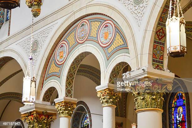 Interior de la catedral de Santa Fe, nuevo méxico
