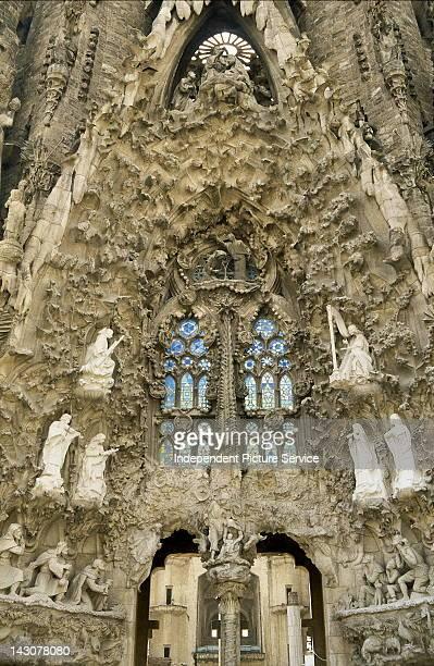 Cathedral La Sagrada Familia, by Antonio Gaudi, Barcelona, Spain.